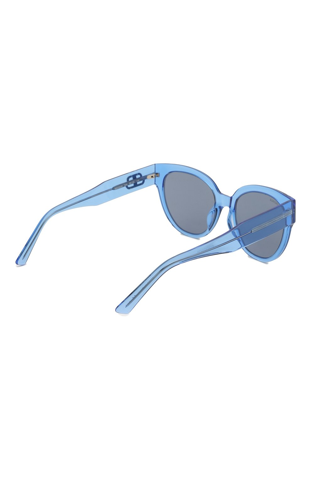 Женские солнцезащитные очки BALENCIAGA голубого цвета, арт. 584805/T0001 | Фото 4