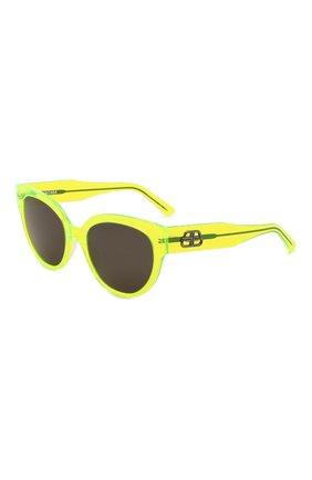Женские солнцезащитные очки BALENCIAGA желтого цвета, арт. 584805/T0001 | Фото 1 (Тип очков: С/з; Оптика Гендер: оптика-женское; Очки форма: Cat-eye)