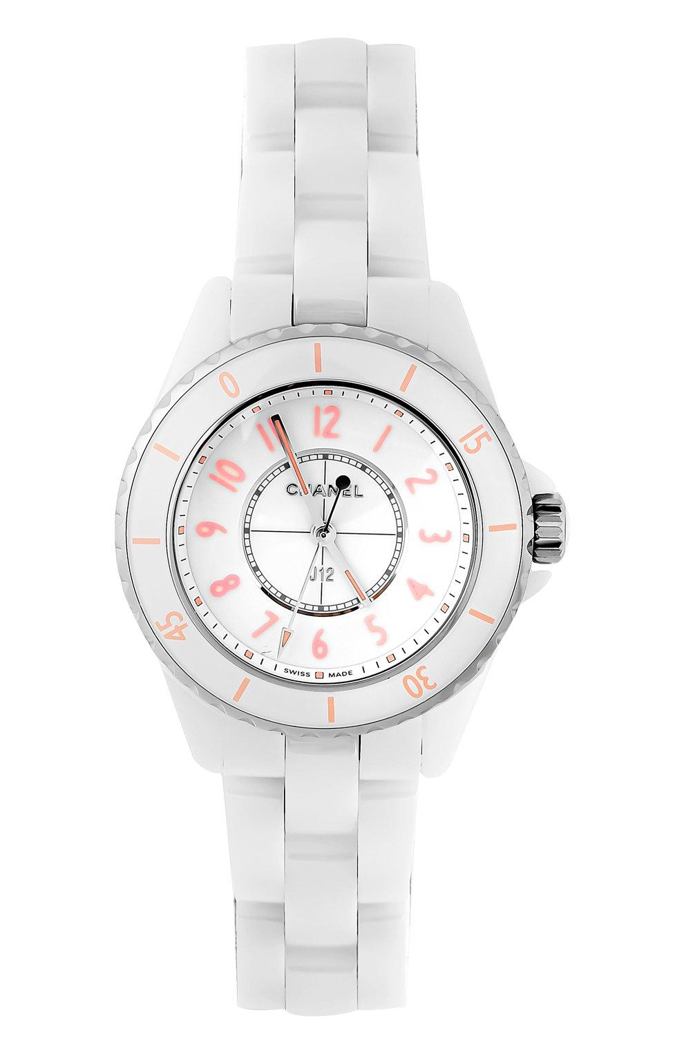 Женские часы j12 pink blush CHANEL белого цвета, арт. H6755 | Фото 1