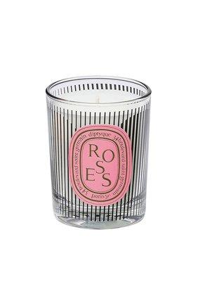Свеча roses dancing ovals limited edition DIPTYQUE бесцветного цвета, арт. 3700431427861 | Фото 1