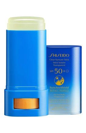 Прозрачный солнцезащитный стик spf50+ (20g) SHISEIDO бесцветного цвета, арт. 16980SH | Фото 2