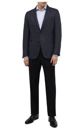 Мужские кожаные оксфорды HUGO черного цвета, арт. 50455187 | Фото 2 (Стили: Классический)