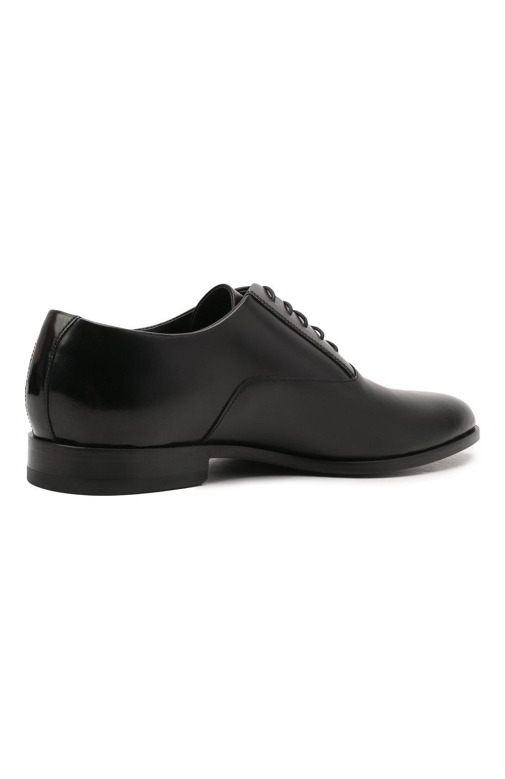 Мужские кожаные оксфорды HUGO черного цвета, арт. 50455187 | Фото 4 (Стили: Классический)