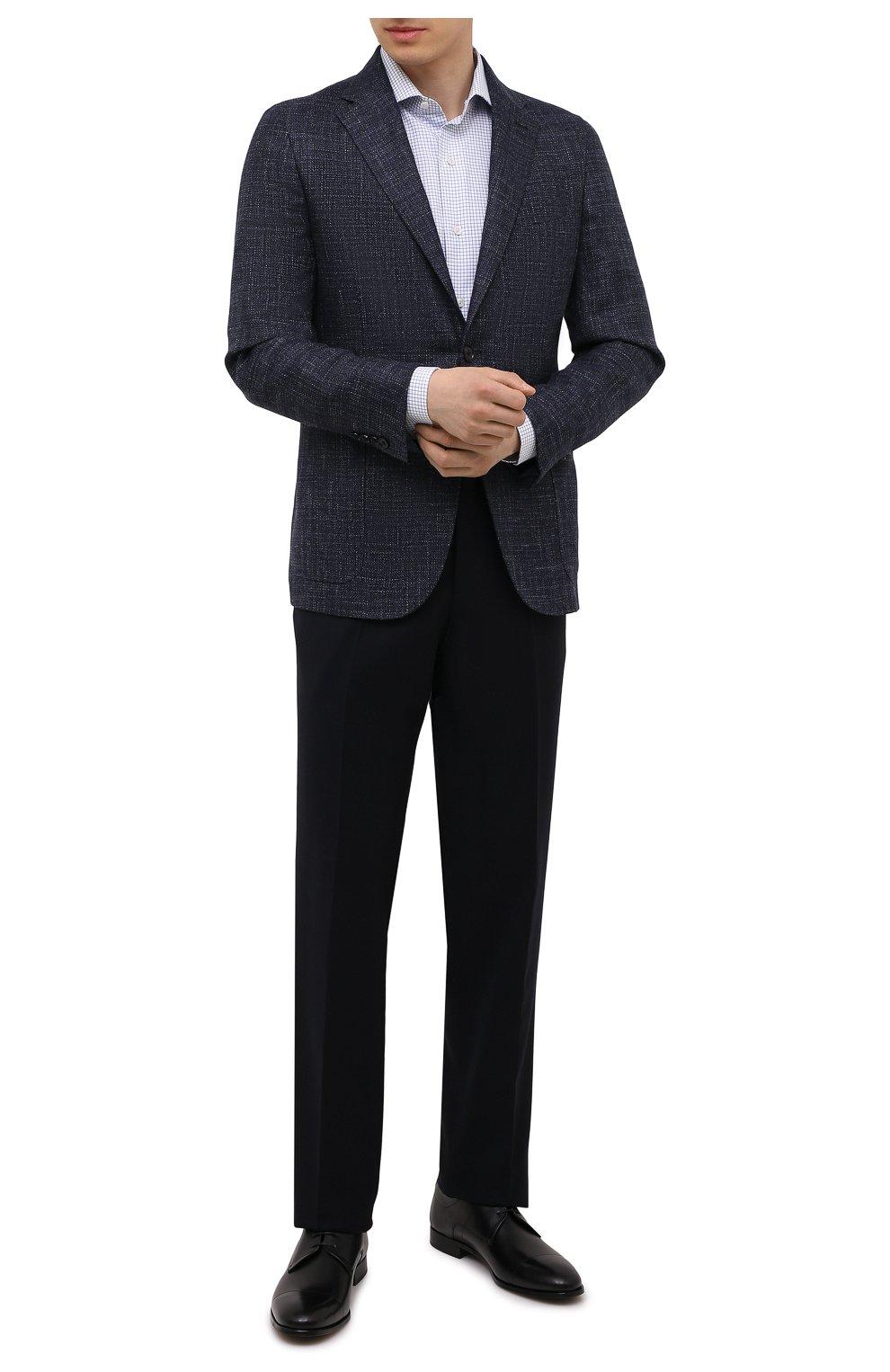 Мужские кожаные дерби HUGO черного цвета, арт. 50455199 | Фото 2 (Стили: Классический)