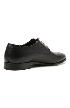 Мужские кожаные дерби HUGO черного цвета, арт. 50455199 | Фото 4 (Стили: Классический)