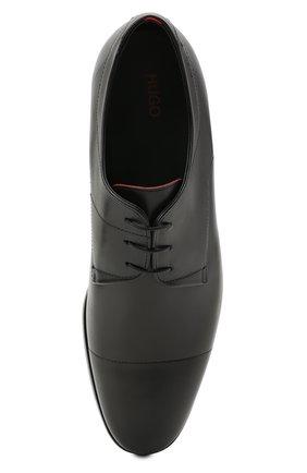 Мужские кожаные дерби HUGO черного цвета, арт. 50455199 | Фото 5 (Стили: Классический)