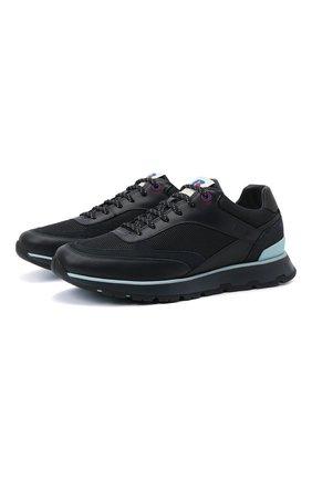 Мужские кроссовки boss x russell athletic BOSS темно-синего цвета, арт. 50453915 | Фото 1 (Материал внешний: Текстиль; Подошва: Массивная)