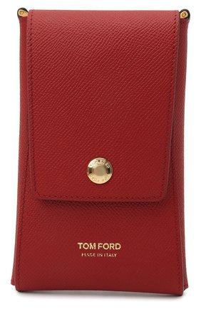 Кожаный чехол для iphone TOM FORD красного цвета, арт. Y0302T-LCL081   Фото 1