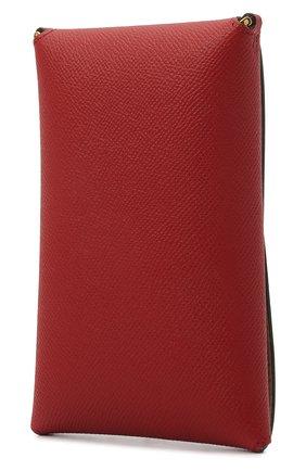 Кожаный чехол для iphone TOM FORD красного цвета, арт. Y0302T-LCL081   Фото 2