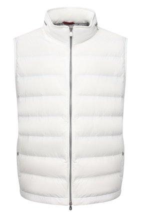 Мужской пуховый жилет BRUNELLO CUCINELLI белого цвета, арт. ML4911714W | Фото 1