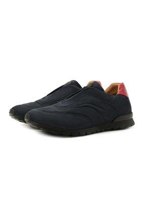 Мужские кроссовки с отделкой из кожи аллигатора KITON синего цвета, арт. USSFREEN00680/AMIS | Фото 1 (Материал внутренний: Натуральная кожа; Стили: Классический; Подошва: Массивная; Материал утеплителя: Натуральный мех)