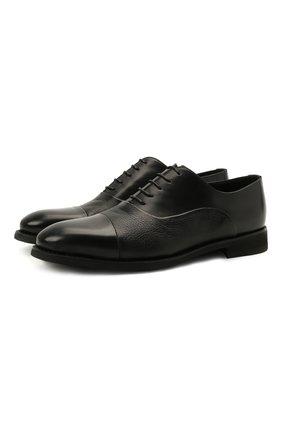 Мужские кожаные оксфорды BARRETT черного цвета, арт. 192U043.14/VITELL0 | Фото 1