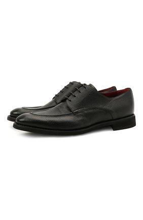 Мужские кожаные дерби BARRETT черного цвета, арт. 192U067.9/CERV0 | Фото 1