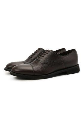 Мужские кожаные оксфорды BARRETT темно-коричневого цвета, арт. 211U012.17/CERV0 ASP0RTABILE | Фото 1