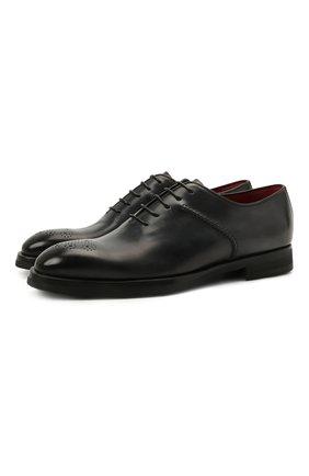 Мужские кожаные оксфорды BARRETT темно-серого цвета, арт. 212U013.5/BETIS CREAM | Фото 1