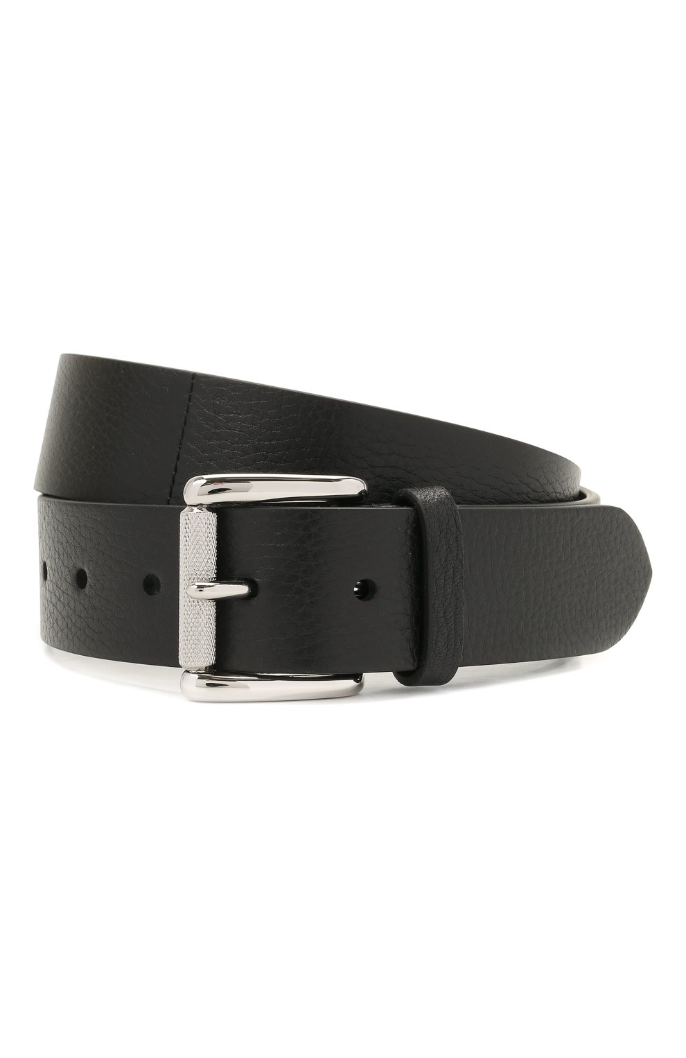 Мужской кожаный ремень RALPH LAUREN черного цвета, арт. 404849256 | Фото 1