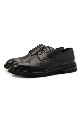 Мужские кожаные дерби H`D`S`N BARACCO черного цвета, арт. 81218.B.1* | Фото 1