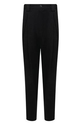 Мужские шерстяные брюки GIORGIO ARMANI серого цвета, арт. 1WGPP0KG/T0091 | Фото 1 (Материал внешний: Шерсть; Случай: Повседневный; Стили: Кэжуэл; Длина (брюки, джинсы): Стандартные)