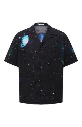 Мужская хлопковая рубашка VALENTINO черного цвета, арт. WV3AAA907KD | Фото 1 (Материал внешний: Хлопок; Случай: Повседневный; Рукава: Короткие; Стили: Кэжуэл; Длина (для топов): Стандартные)