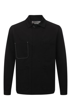Мужская хлопковая куртка ALEXANDER MCQUEEN черного цвета, арт. 644900/QRY32 | Фото 1 (Материал внешний: Хлопок; Длина (верхняя одежда): Короткие; Стили: Кэжуэл; Материал подклада: Хлопок; Рукава: Длинные; Кросс-КТ: Ветровка, Куртка)