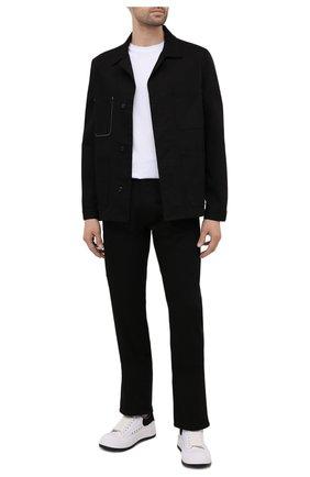 Мужская хлопковая куртка ALEXANDER MCQUEEN черного цвета, арт. 644900/QRY32 | Фото 2 (Материал внешний: Хлопок; Длина (верхняя одежда): Короткие; Стили: Кэжуэл; Материал подклада: Хлопок; Рукава: Длинные; Кросс-КТ: Ветровка, Куртка)