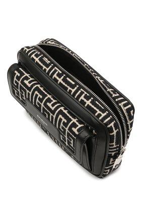 Мужская комбинированная поясная сумка BALMAIN черного цвета, арт. WM1AB146/TJMY   Фото 4