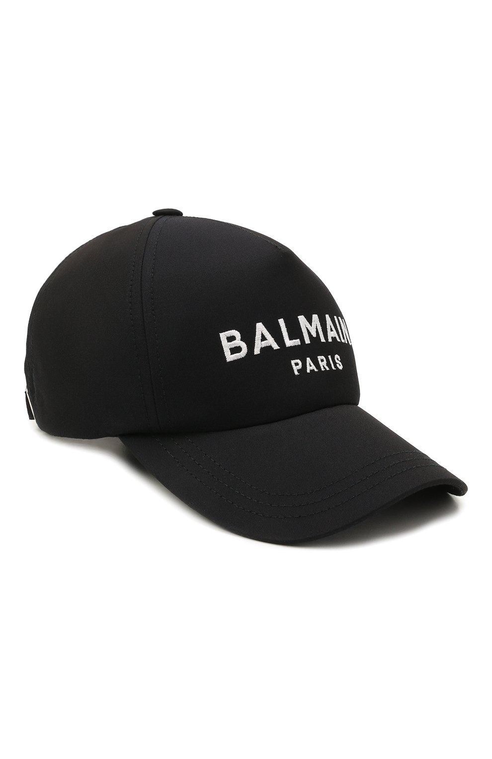 Мужской хлопковая бейсболка BALMAIN темно-синего цвета, арт. WH1XA000/C084   Фото 1