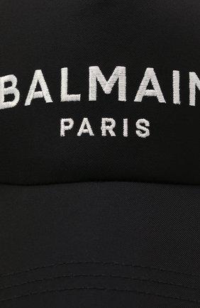 Мужской хлопковая бейсболка BALMAIN темно-синего цвета, арт. WH1XA000/C084   Фото 3