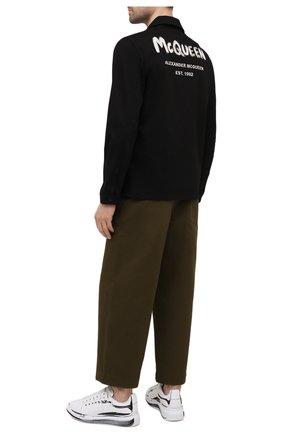 Мужские кожаные кеды ALEXANDER MCQUEEN белого цвета, арт. 662642/WIA4Q | Фото 2