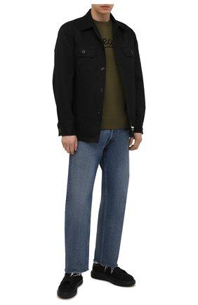 Мужские текстильные кеды ALEXANDER MCQUEEN черного цвета, арт. 662650/W4Q33 | Фото 2