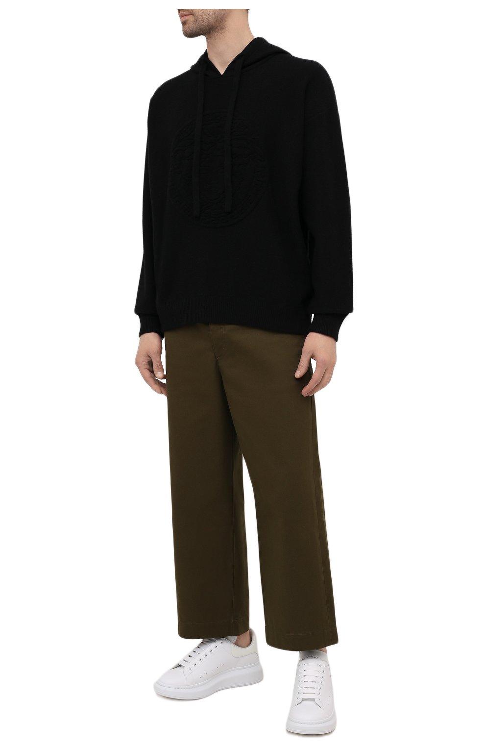 Мужские кожаные кеды ALEXANDER MCQUEEN белого цвета, арт. 662652/WIA4M | Фото 2 (Материал внутренний: Натуральная кожа; Подошва: Массивная)