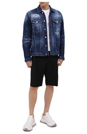 Мужская джинсовая куртка DSQUARED2 темно-синего цвета, арт. S74AM1172/S30342 | Фото 2