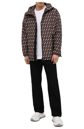 Мужская утепленная куртка DSQUARED2 коричневого цвета, арт. S74AM1199/S54050 | Фото 2 (Материал внешний: Синтетический материал; Рукава: Длинные; Материал подклада: Синтетический материал; Длина (верхняя одежда): Короткие; Кросс-КТ: Куртка; Мужское Кросс-КТ: пуховик-короткий)