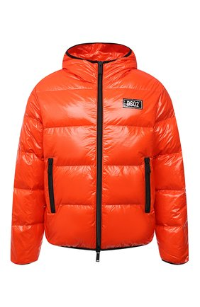Мужская пуховая куртка DSQUARED2 оранжевого цвета, арт. S74AM1201/S54056 | Фото 1