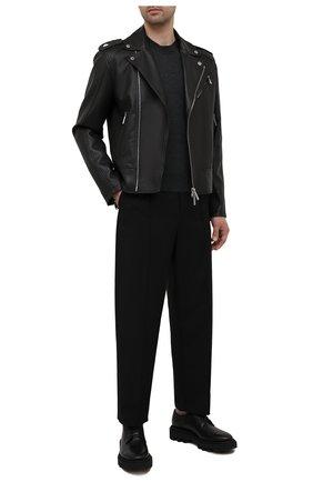 Мужская кожаная куртка DSQUARED2 черного цвета, арт. S74AM1203/SY1491 | Фото 2