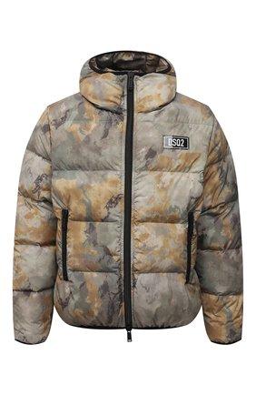 Мужская пуховая куртка DSQUARED2 хаки цвета, арт. S74AM1211/S54055   Фото 1