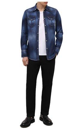 Мужская джинсовая рубашка DSQUARED2 темно-синего цвета, арт. S74DM0526/S30341 | Фото 2