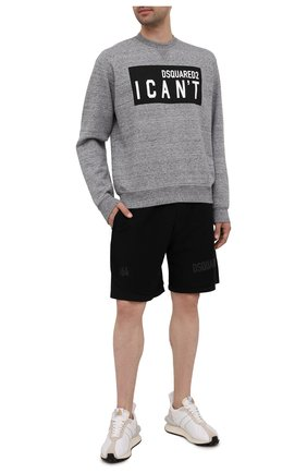 Мужской хлопковый свитшот DSQUARED2 серого цвета, арт. S74GU0529/S25463 | Фото 2
