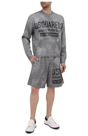 Мужской хлопковый свитшот DSQUARED2 серого цвета, арт. S74GU0544/S25477 | Фото 2