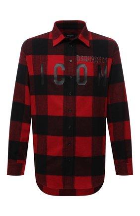 Мужская рубашка DSQUARED2 красного цвета, арт. S79DL0014/S53139 | Фото 1