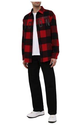 Мужская рубашка DSQUARED2 красного цвета, арт. S79DL0014/S53139 | Фото 2