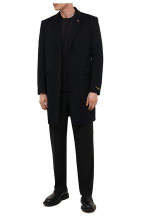Мужской шерстяное пальто VERSACE черного цвета, арт. 1000853/1A00889   Фото 2