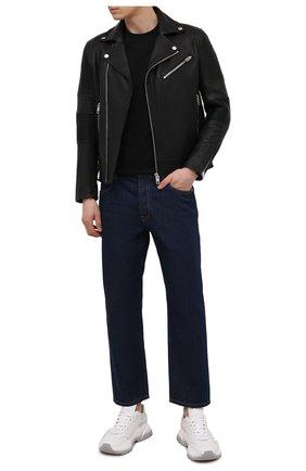 Мужская кожаная куртка DIESEL черного цвета, арт. A02722/0PBAH | Фото 2