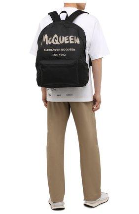 Мужской текстильный рюкзак ALEXANDER MCQUEEN черного цвета, арт. 662859/1AABW | Фото 2