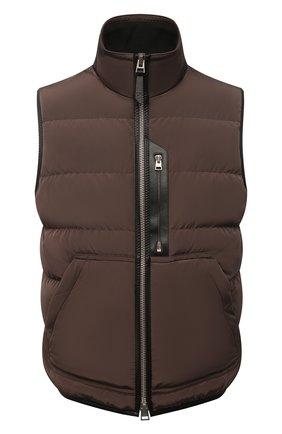 Мужской пуховый жилет TOM FORD коричневого цвета, арт. BY020/TF0325 | Фото 1