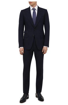 Мужской шерстяной костюм TOM FORD темно-синего цвета, арт. Q11R03/21EL4Z | Фото 1