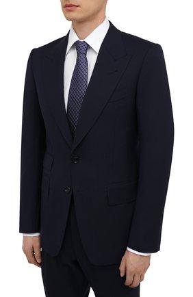 Мужской шерстяной костюм TOM FORD темно-синего цвета, арт. Q11R03/21EL4Z | Фото 2