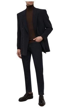 Мужской шерстяная водолазка TOM FORD коричневого цвета, арт. BYM94/TFK120 | Фото 2 (Рукава: Длинные; Длина (для топов): Стандартные; Материал внешний: Шерсть; Мужское Кросс-КТ: Водолазка-одежда; Принт: Без принта; Стили: Кэжуэл)