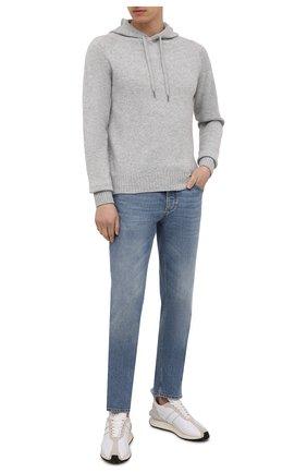 Мужской кашемировое худи TOM FORD серого цвета, арт. BYK75/TFK314 | Фото 2 (Материал внешний: Шерсть, Кашемир; Длина (для топов): Стандартные; Принт: Без принта; Рукава: Длинные; Стили: Кэжуэл; Мужское Кросс-КТ: Худи-одежда)