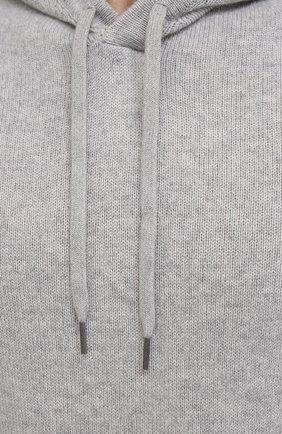 Мужской кашемировое худи TOM FORD серого цвета, арт. BYK75/TFK314   Фото 5
